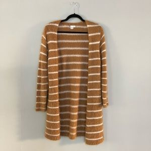 Volcom Striped Mohair Oversize Cardigan Yellow S